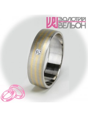 Women's wedding ring with diamond 951-2V030 ♀