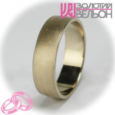 Мужское обручальное кольцо 950-2V030 ♂