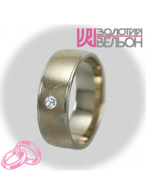 Women's wedding ring with diamond 950-2V033 f