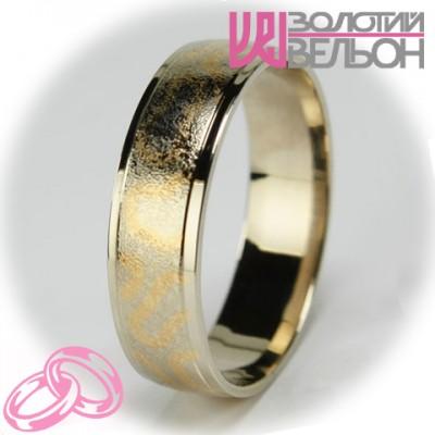 Мужское обручальное кольцо 950-2V033