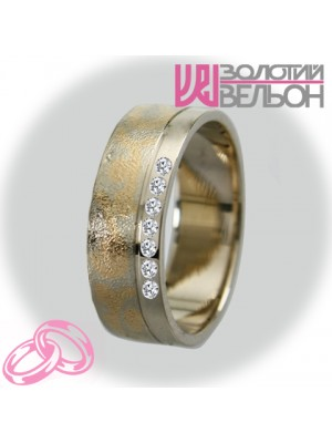 Women's wedding ring with diamond 951-2V034 ♀