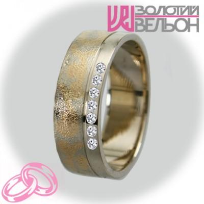 Женское обручальное кольцо с бриллиантом 951-2V034 ♀