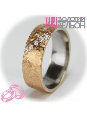 Женское обручальное кольцо с бриллиантом 951-2V004 ♀