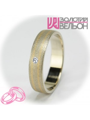 Women's wedding ring with diamond 951-2V021M ♀