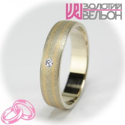Женское обручальное кольцо с бриллиантом 951-2V021M ♀
