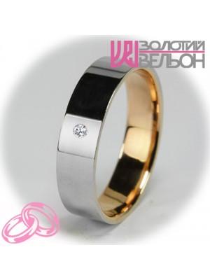 Женское обручальное кольцо с бриллиантом 951-2V028 ♀