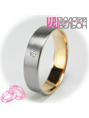 Женское обручальное кольцо с бриллиантом 951-2V029 ♀