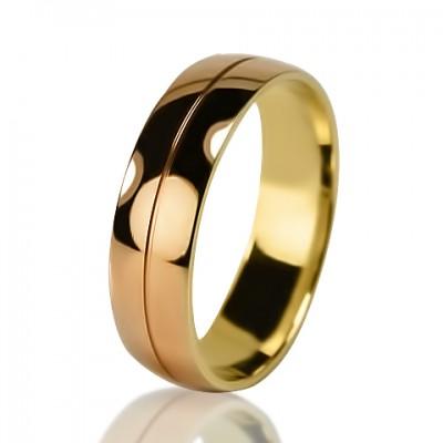 Мужское обручальное кольцо 850-2V032♂