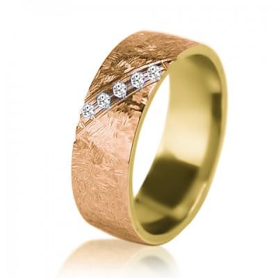 Женское обручальное кольцо с бриллиантом 151-2V004