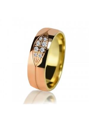 Женское обручальное кольцо с бриллиантом 151-2V032