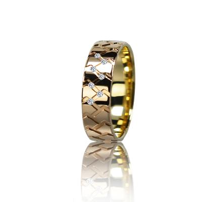 Женское обручальное кольцо с бриллиантом 151-2V036M