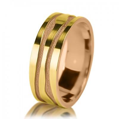 Мужское обручальное кольцо 250-2V001