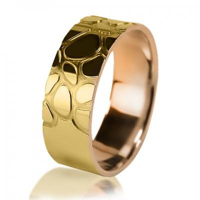 Комбинированное обручальное кольцо 250-2V016
