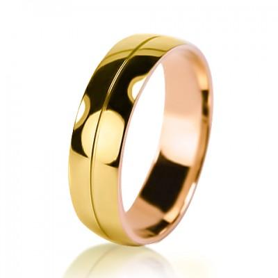 Мужское обручальное кольцо 250-2V032