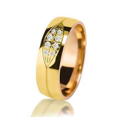 Женское обручальное кольцо с бриллиантом 251-2V032
