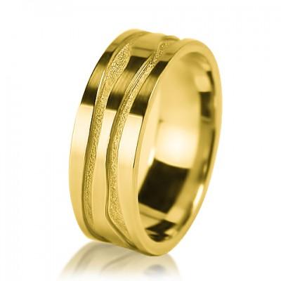 Мужское обручальное кольцо 350-2V001