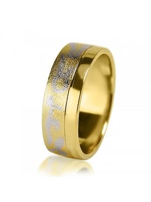 Мужское обручальное кольцо 350-2V034