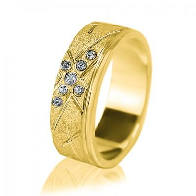 Женское обручальное кольцо с бриллиантом 351-2F002
