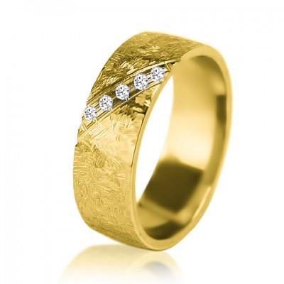 Женское обручальное кольцо с бриллиантом 351-2V004