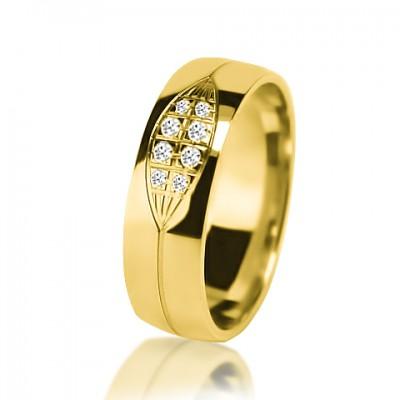 Женское обручальное кольцо с бриллиантом 351-2V032