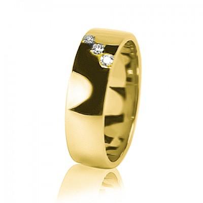 Женское обручальное кольцо с бриллиантом 351-2Z001