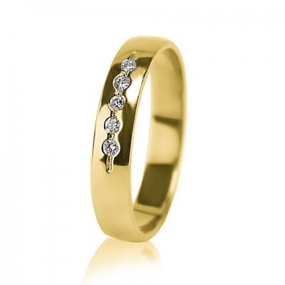 Женское обручальное кольцо с бриллиантом 351-2z004