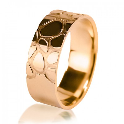 Two-tone wedding ring 450-2V016