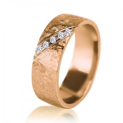Женское обручальное кольцо с бриллиантом 451-2V004