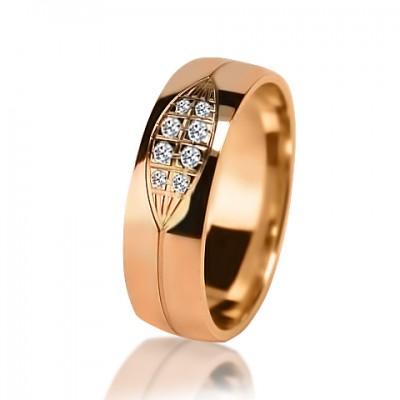 Женское обручальное кольцо с бриллиантом 451-2V032