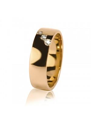 Женское обручальное кольцо с бриллиантом 451-2Z001