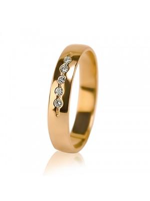 Женское обручальное кольцо с бриллиантом 451-2z004