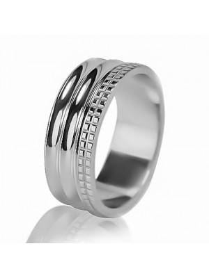 Мужское обручальное кольцо 550-2F009