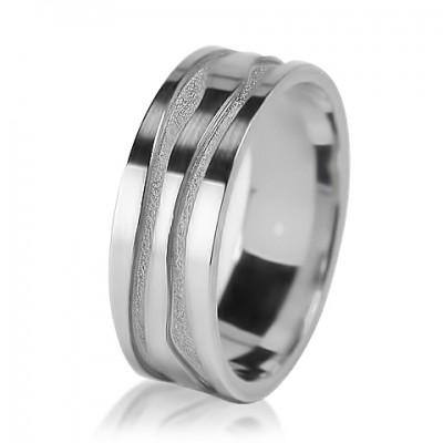 Мужское обручальное кольцо 550-2V001
