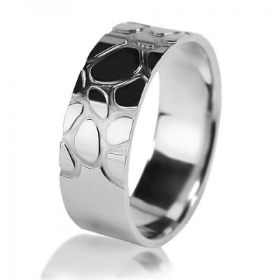 Комбинированное обручальное кольцо 550-2V016