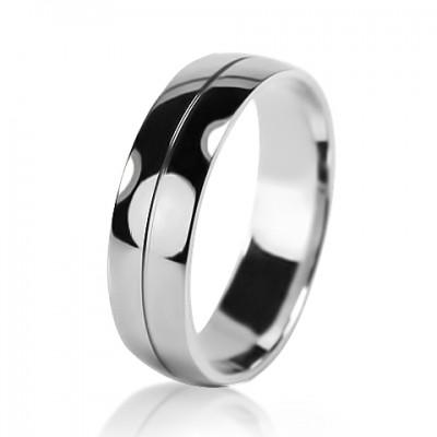 Мужское обручальное кольцо 550-2V032