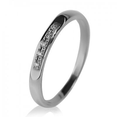 Женское обручальное кольцо с бриллиантом 551-10065