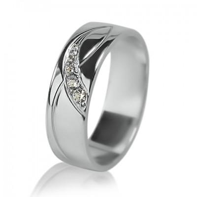 Женское обручальное кольцо с бриллиантом 551-2F005