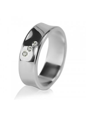 Женское обручальное кольцо с бриллиантом 551-2F007 ♀