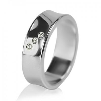 Женское обручальное кольцо с бриллиантом 551-2F007