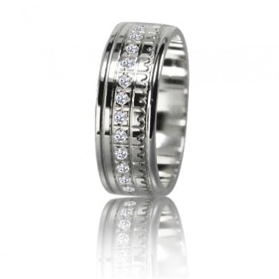 Женское обручальное кольцо с бриллиантом 551-2F011