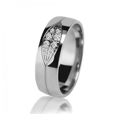 Женское обручальное кольцо с бриллиантом 551-2V032