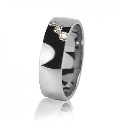 Женское обручальное кольцо с бриллиантом 551-2Z001