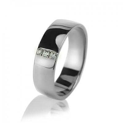 Женское обручальное кольцо с бриллиантом 551-2z002