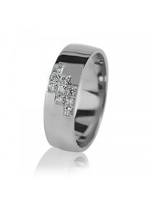 Женское обручальное кольцо с бриллиантом 551-2z003