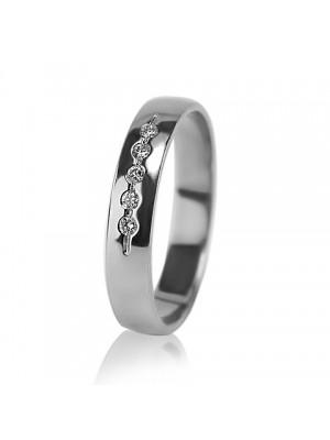 Женское обручальное кольцо с бриллиантом 551-2z004