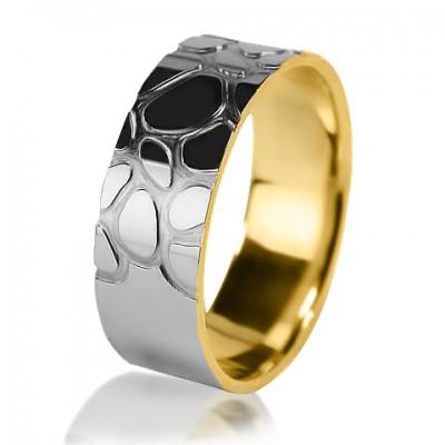 Комбинированное обручальное кольцо 650-2V016