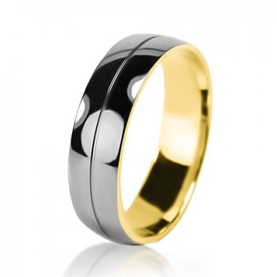 Мужское обручальное кольцо 650-2V032 ♂