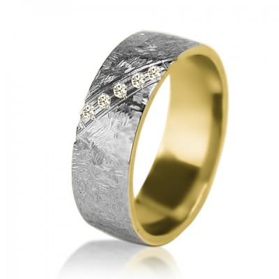 Женское обручальное кольцо с бриллиантом 651-2V004