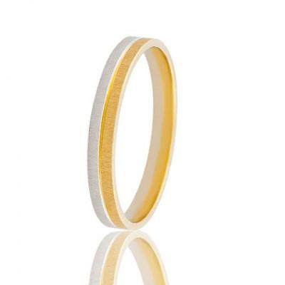 Золотое обручальное кольцо 750-2C056