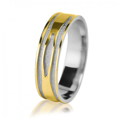 Мужское обручальное кольцо 750-2V013